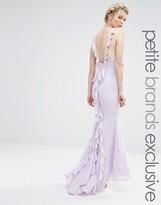 Jarlo Petite Maxi Dress With Ruffle Back Detail
