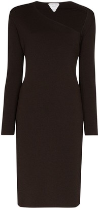 Bottega Veneta Asymmetric Bodycon Midi Dress