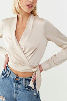 Forever 21 Satin Self-Tie Wrap Top
