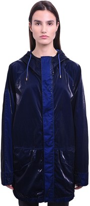 Mr & Mrs Italy Long Cotton Velvet Tech Wind Breaker