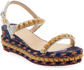 Christian Louboutin Pira Ryad Printed Red Sole Espadrilles
