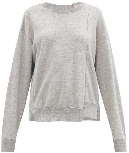 Kuro Asymmetric Cotton-jersey Sweatshirt - Grey