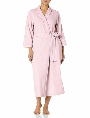 Casual Moments Women's Plus Size 50 Inch Waffle Wrap Robe