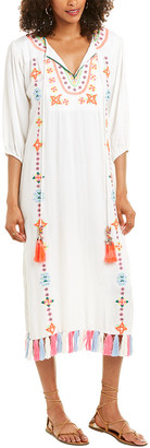 HEMANT AND NANDITA Embroidered Twill Maxi Dress