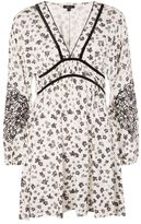 Topshop Floral embroidered tea dress