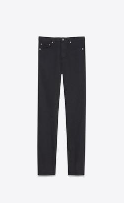 Saint Laurent Slim Jean In Worn Black Stretch Denim Worn Black 26