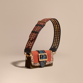 Burberry The Patchwork in Textured Suede and Leopard-print Calfskin