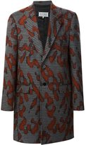 Maison Margiela splash print coat - men - Silk/Cotton/Polyamide/Virgin Wool - 48