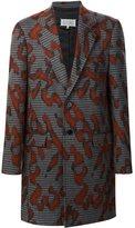 Maison Margiela splash print coat - men - Silk/Cotton/Polyamide/Virgin Wool - 48