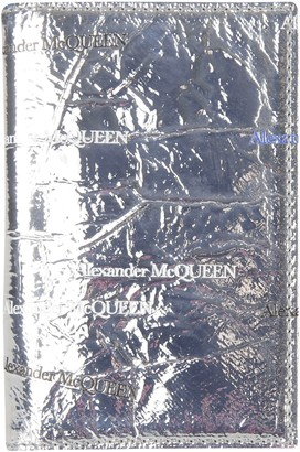 Alexander McQueen Logo Print Metallic Folded Card Holder