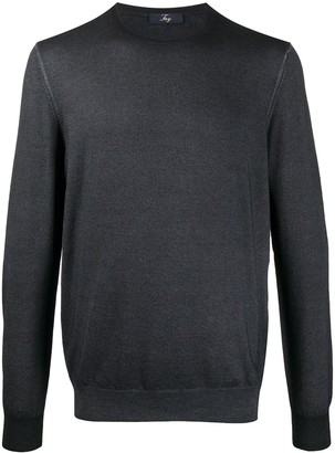 Fay Rib-Trimmed Virgin Wool Jumper