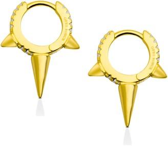 Opes Robur Gold Medium Spiked Hoop Earrings