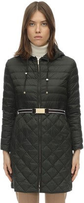 Max Mara 'S Long Hooded Nylon Down Coat