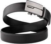 JASGOOD Men's Genuine Leather Ratchet Dress Belt for Men with Automatic Buckle