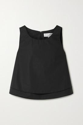 Apiece Apart Agnes Layered Cotton-poplin Top - Black