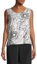 Caroline Rose Frivolous Floral Tank, Plus Size