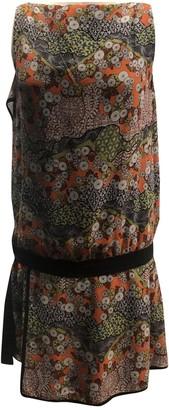Proenza Schouler Orange Silk Dresses