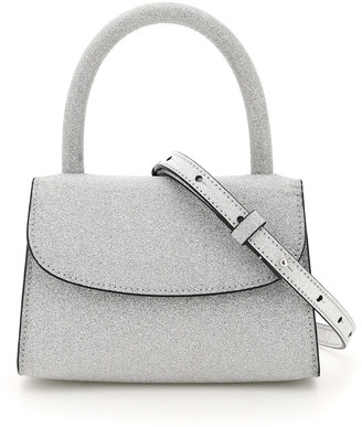 BY FAR Mini Glitter Leather Bag