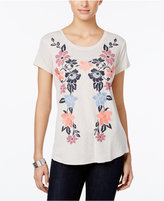 Style&Co. Style & Co Petite Floral-Print T-Shirt, Only at Macy's