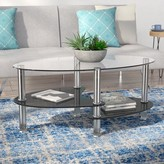 clear Kathlene Coffee Table with Storage Orren Ellis Top Color