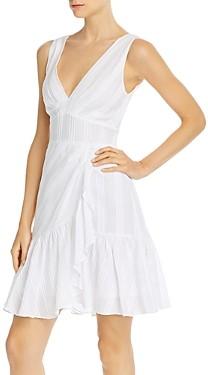 Rebecca Taylor Cotton Striped Tie-Back Dress