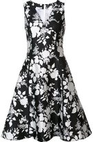 Oscar de la Renta flared floral dress - women - Silk/Cotton - 6