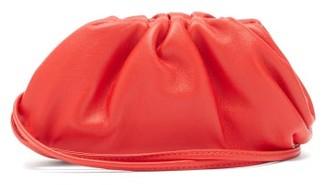 Bottega Veneta The Pouch Mini Wristlet Leather Clutch - Red