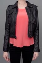 Zip Moto Jacket Black