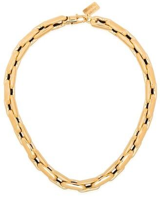LAUREN RUBINSKI 14kt Yellow Gold Medium Square Link Chain Necklace