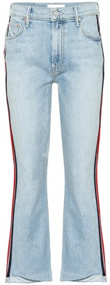 Mother Insider Crop Step Fray flared jeans