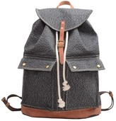 Fossil Touri 17'' Draw String Canvas Backpack In Grey