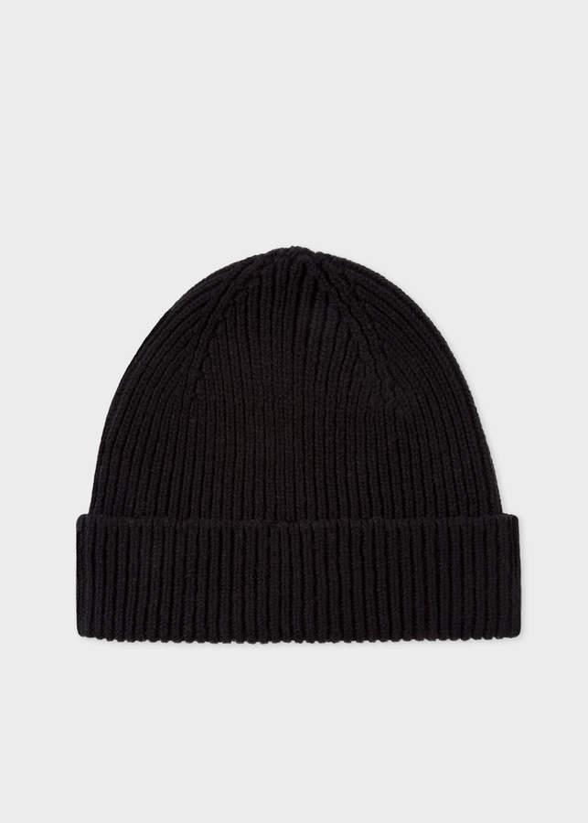 b3fc9be2c Men's Black Cashmere-Blend Beanie Hat