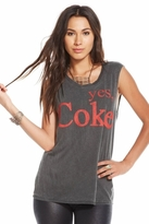 Chaser LA Yes Coke Sleeveless Tunic in Vintage Black