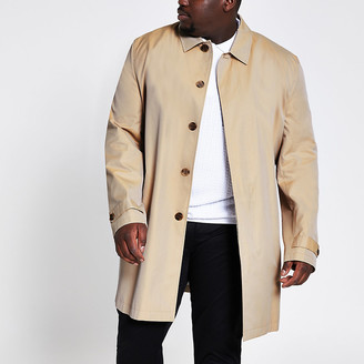 River Island Big and Tall stone water resistant mac
