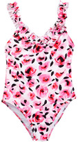 Kate Spade Rose Ruffle One-Piece Swimsuit (Big Girls)