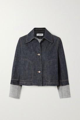 Loewe Cropped Denim Jacket - Blue