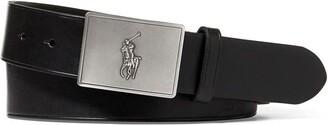 Polo Ralph Lauren Plaque Leather Belt