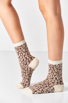 Out From Under Fuzzy Animal Printed Crew Sock
