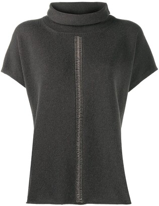 Peserico Stud-Embellished Knitted Top