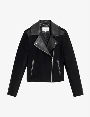 Claudie Pierlot Carma leather biker jacket