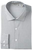 Kenneth Cole Reaction Grid Pattern Slim Fit Dress Shirt