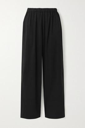 Wone Shell Wide-leg Track Pants - Black