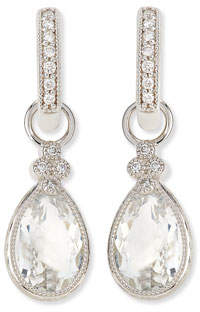 Jude Frances Pear Provence White Topaz & Diamond Earring Charms