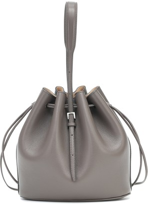 Jil Sander Drawstring leather bucket bag
