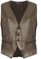 Ann Demeulemeester buttoned metallic vest