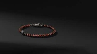 David Yurman Spiritual Beads Skull Bracelet With Red Tigers Eye
