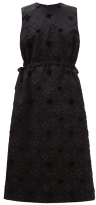 Noir Kei Ninomiya Floral Fil-coupe Tulle-underskirt Dress - Black