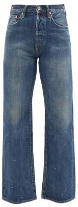 Chimala High-rise Washed Cotton Cropped-leg Jeans - Womens - Dark Denim