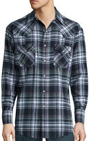 Ely Cattleman Long-Sleeve Flannel Snap-Front Western Shirt