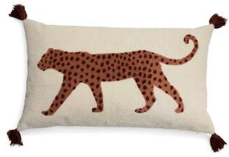 """Walking Leopard Boucle Embroidered Decorative Throw Pillow, 24x14"""" by Drew Barrymore Flower Home"""